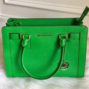 NWT Michael Kors Dillon Satchel Leather Bag